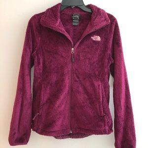 North Face Furry Fleece Jacket Purple